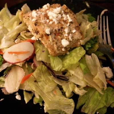 Grilled Salmon Salad that my boyfriend made me!