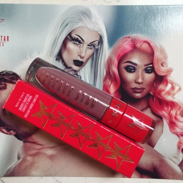 Jeffree Star and Nikita Dragun in the Velour Liquid Lipstick Holiday 2016 collection with limited edition color Saggitarius