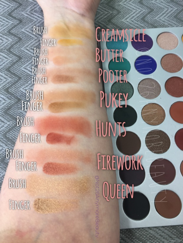 JaclynHillxMorphe Palette Jaclyn Hill Morphe palette honest fan review and swatches