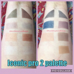 Makeup Revolution Iconic pro 2 palette swatches