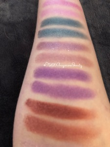 UcanBe Mask palette vs Huda Gemstone Obsessions swatches